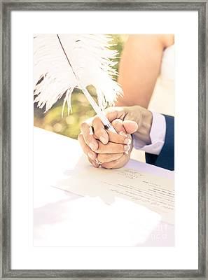 Tender Pledge Of Commitment Framed Print