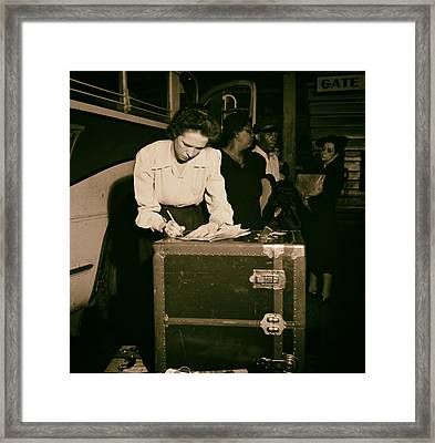Tennessee Coach Company Baggage Agent Knoxville 1943 Framed Print by Mountain Dreams