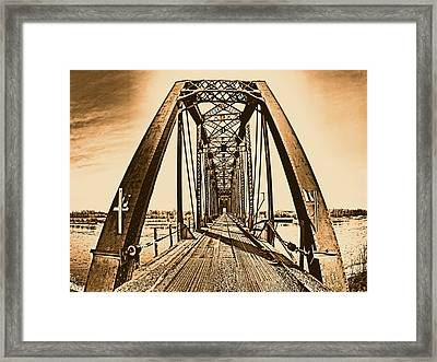 Terry Bridge Framed Print by Leland D Howard