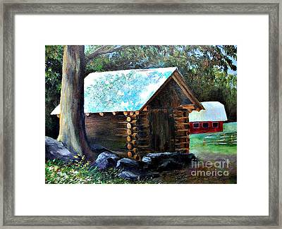 Tessentee Cabin Framed Print