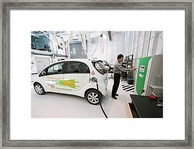 Testing Electric Vehicles Framed Print