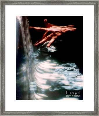 Testing The Water Framed Print by Michael Hoard