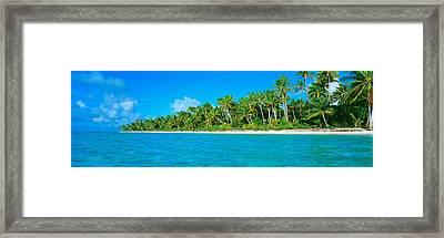 Tetiaroa Atoll French Polynesia Tahiti Framed Print by Panoramic Images