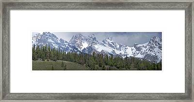 Tetons Panorama Framed Print