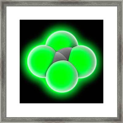 Tetrachloroethylene Molecule Framed Print