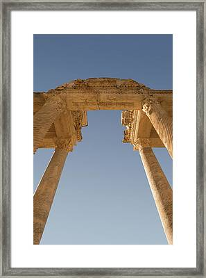 Tetrapylon At Aphrodisias Framed Print