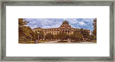 Texas A And M Academic Plaza - College Station Texas Framed Print