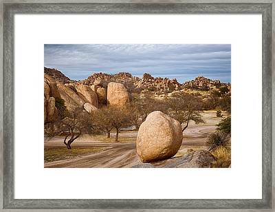 Texas Canyon In Arizona Framed Print by Beverly Parks