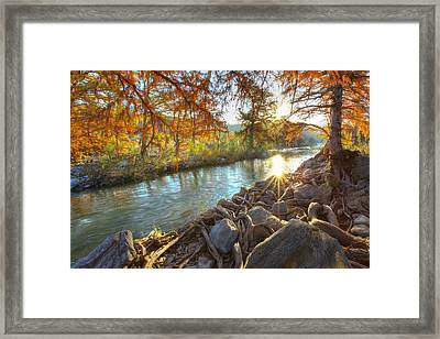 Texas Hill Country Images - Pedernales Falls State Park Sunrise  Framed Print by Rob Greebon