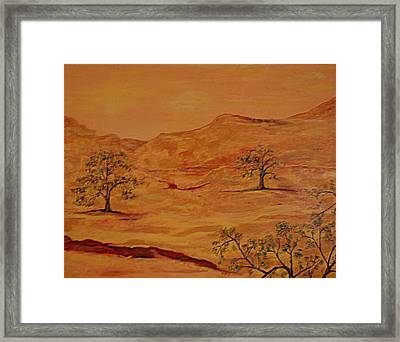 Texas Hill Country Framed Print by Kathy Peltomaa Lewis