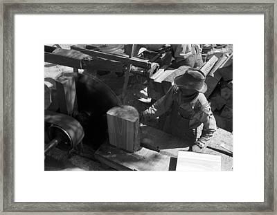 Texas Saw Mill, 1939 Framed Print by Granger