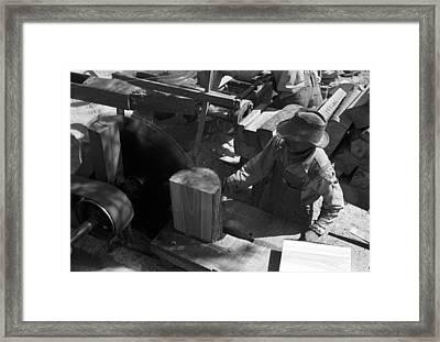 Texas Saw Mill, 1939 Framed Print