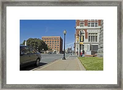 Framed Print featuring the photograph Texas School Book Depository by Charles Beeler