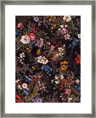 Textile Design Framed Print by William Kilburn