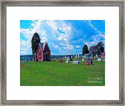 Framed Print featuring the photograph Fryburg Cemetery by Gena Weiser