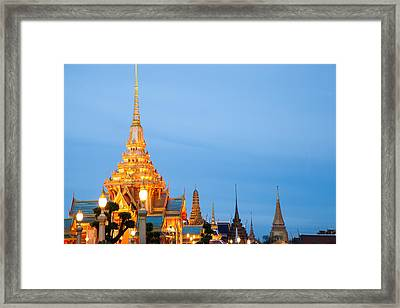 Thai Construction Design. Framed Print by Vachiraphan Phangphan