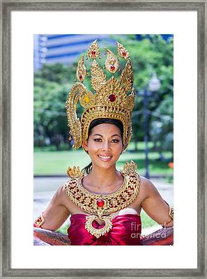 Thai Woman In Traditional Dress Framed Print by Fototrav Print
