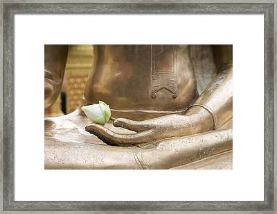 Thailand, Chiang Mai, Buddhist Temple Framed Print