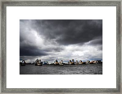 Thames Barrier Framed Print by Mark Rogan