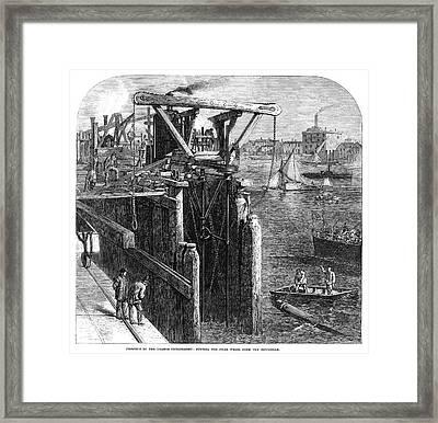 Thames Embankment, 1866 Framed Print by Granger
