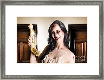 Thankful Zombie Businesswoman With Bonus Framed Print by Jorgo Photography - Wall Art Gallery
