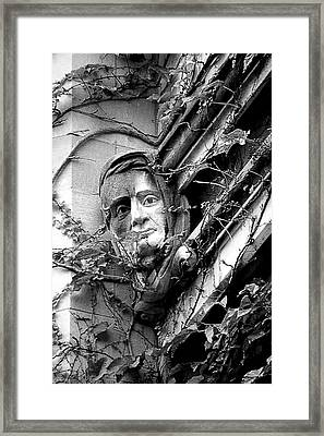 That Gargoyle University Of Chicago 2009 Framed Print by Joseph Duba
