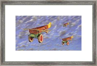 The 356th Toy Plane Squadron Framed Print by Mike McGlothlen