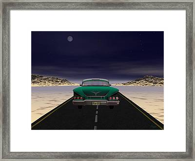 Framed Print featuring the digital art The 58 On 66 by John Pangia