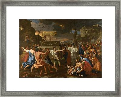 The Adoration Of The Golden Calf Framed Print