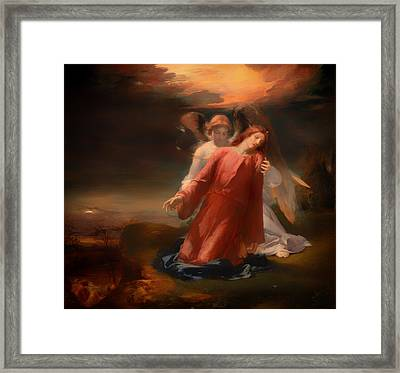 The Agony In The Garden Framed Print by Mountain Dreams