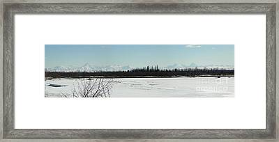 The Alaska Range Framed Print by Jennifer Kimberly