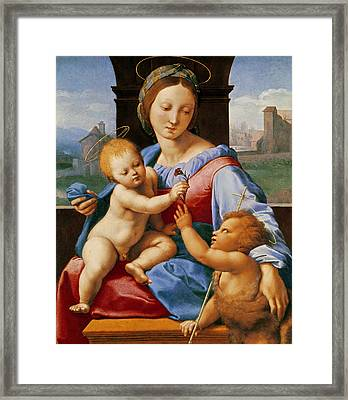 The Aldobrandini Madonna Or The Garvagh Madonna  Framed Print by Raphael