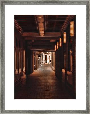 The Alleyway Framed Print by Joann Vitali