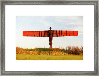 The Angel Of The North Sculpture Framed Print by Ashley Cooper