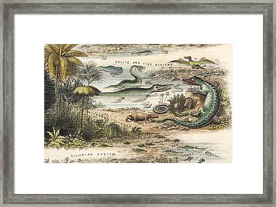 The Antidiluvian World, 1849 Framed Print