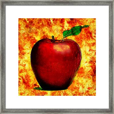 Framed Print featuring the digital art The Apple Of Eris by Persephone Artworks