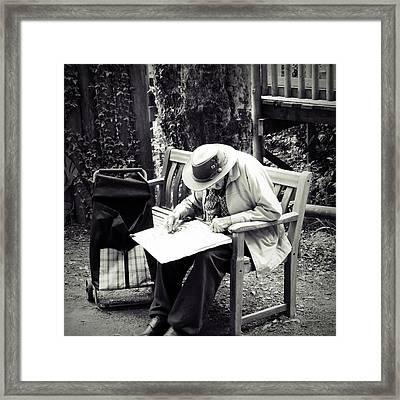 The Artist Framed Print by Sharon Lisa Clarke