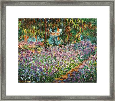 The Artists Garden At Giverny Framed Print by Celestial Images
