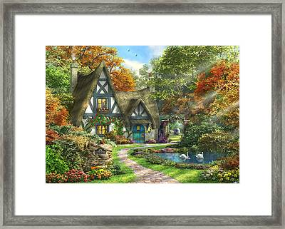 The Autumn Cottage Framed Print by Dominic Davison