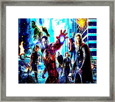 The Avengers Framed Print by Brian Reaves