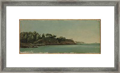 The Banks Of The Rance, Brittany Framed Print by Pierre Henri de Valenciennes