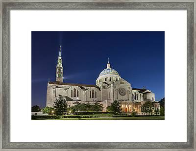The Basilica Of The National Shrine Of The Immaculate Conception Framed Print