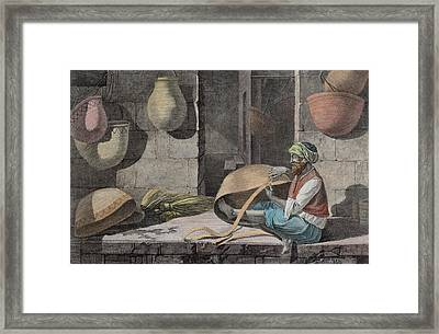 The Basket Maker, From Volume II Arts Framed Print by Nicolas Jacques Conte
