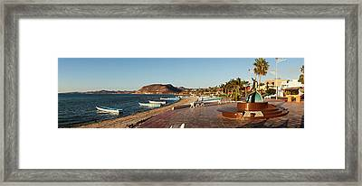 The Beachside Strolling Malecon Framed Print