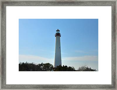 The Beacon Of Cape May Framed Print by Bill Cannon
