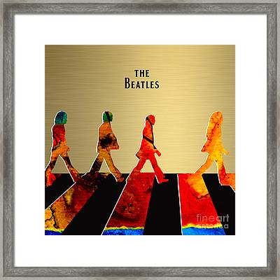 The Beatles Gold Series Framed Print