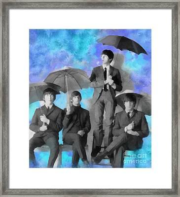 The Beatles Framed Print by Paulette B Wright
