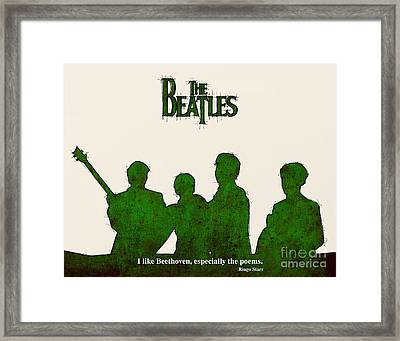 The Beatles Portrait - Ringo Starr Quote Framed Print