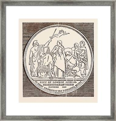 The Beaufoy Medal, In Commemoration Of The Birth And Death Framed Print