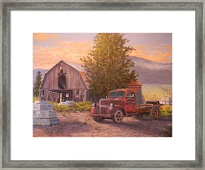 The Beekeepers Barn Framed Print